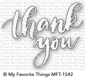 My Favorite Things THANK YOU Die-Namics MFT1542 Preview Image