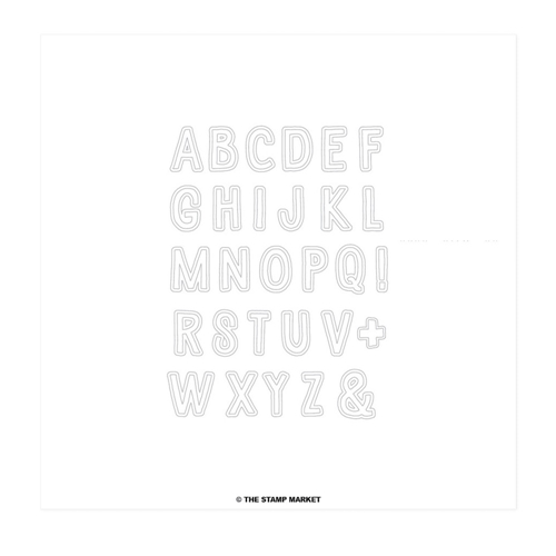 The Stamp Market COOKIE ALPHABET Clear Stamp Set tsm017 Preview Image