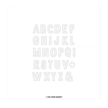 The Stamp Market COOKIE ALPHABET Clear Stamp Set tsm017