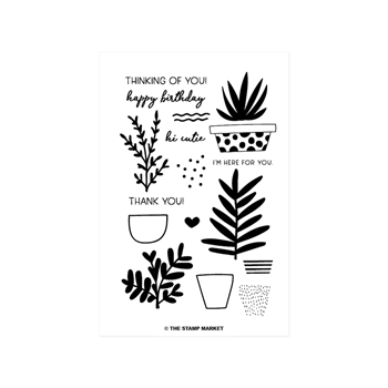 The Stamp Market SUCCULENT Clear Stamp Set tsm072