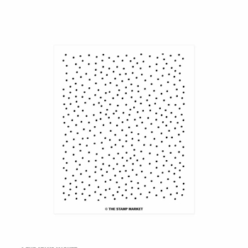 The Stamp Market CONFETTI BACKGROUND Clear Stamp Set tsm099