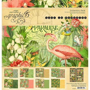 Graphic 45 LOST IN PARADISE 12 x 12 Collection Pack 4501893