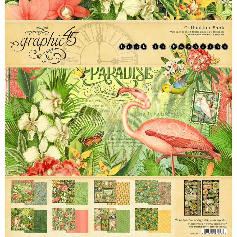 Graphic 45 LOST IN PARADISE 12 x 12 Collection Pack 4501893 zoom image