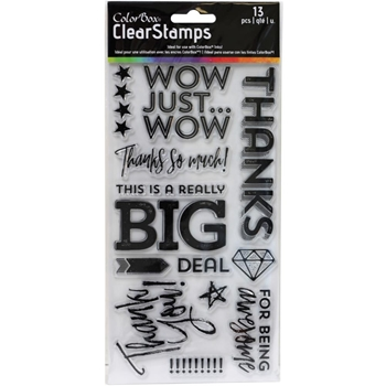 Clearsnap Colorbox BIG THANKS Clear Stamp Set 10426