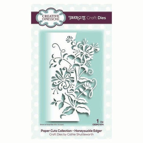 Creative Expressions HONEYSUCKLE EDGER Paper Cuts Collection Dies cedpc1074 Preview Image