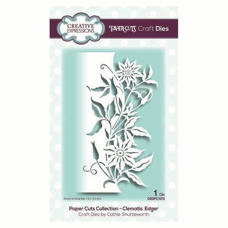 Creative Expressions CLEMATIS EDGER Paper Cuts Collection Dies cedpc1075 zoom image