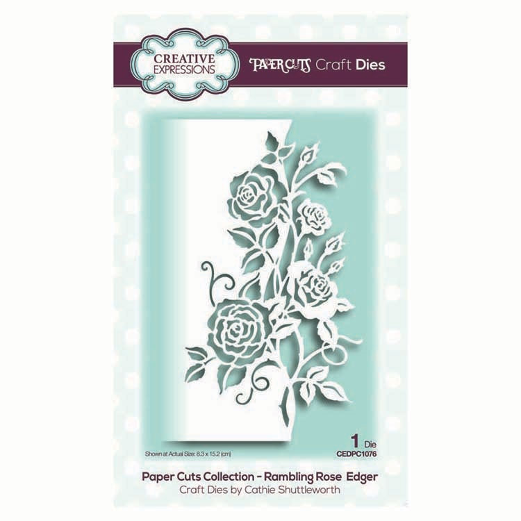 Creative Expressions RAMBLING ROSE EDGER Paper Cuts Collection Dies cedpc1076 zoom image