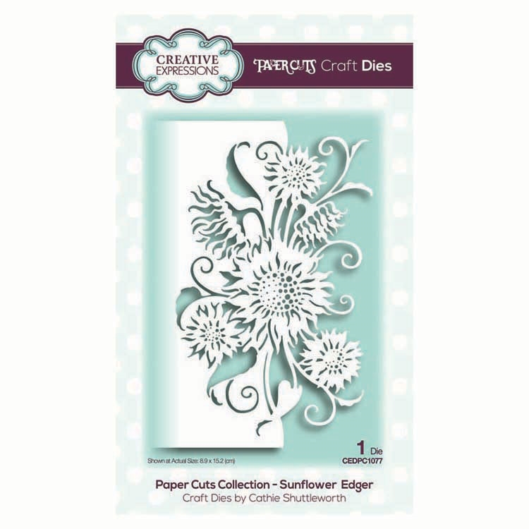 Creative Expressions SUNFLOWER EDGER Paper Cuts Collection Dies cedpc1077 zoom image