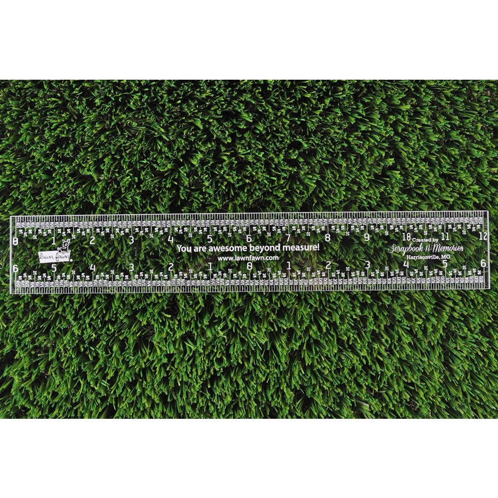 RESERVE Lawn Fawn 12 INCH Clear Ruler LF1999 zoom image