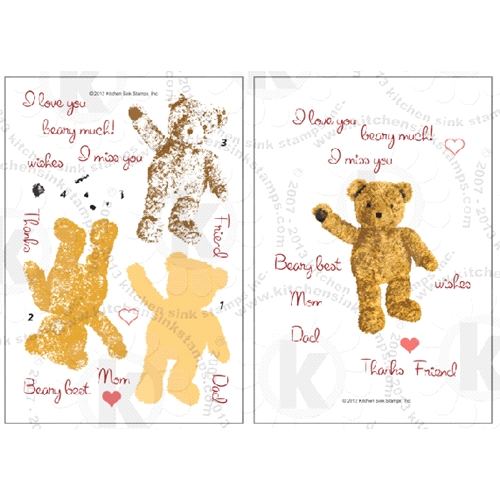 Kitchen Sink Stamps TEDDY BEAR WISHES kss008 Preview Image