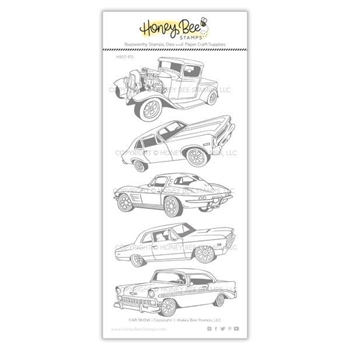 Honey Bee CAR SHOW Clear Stamp Set hbst-175
