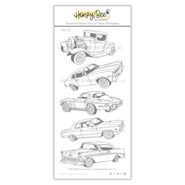 Honey Bee CAR SHOW Clear Stamp Set hbst-175 zoom image