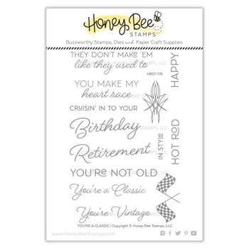 Honey Bee YOU'RE A CLASSIC Clear Stamp Set hbst-176