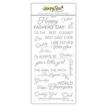 Honey Bee FATHER'S DAY Clear Stamp Set hbst-177