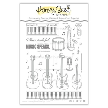 Honey Bee MUSIC SPEAKS Clear Stamp Set hbst-178