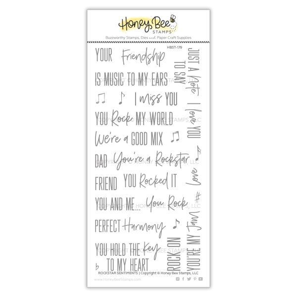 Honey Bee ROCKSTAR SENTIMENTS Clear Stamp Set hbst-179 zoom image