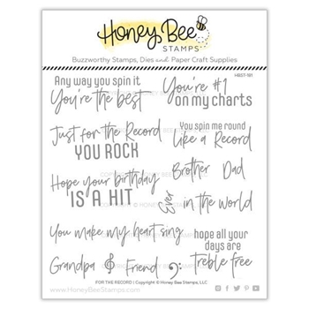 Honey Bee FOR THE RECORD Clear Stamp Set hbst-181
