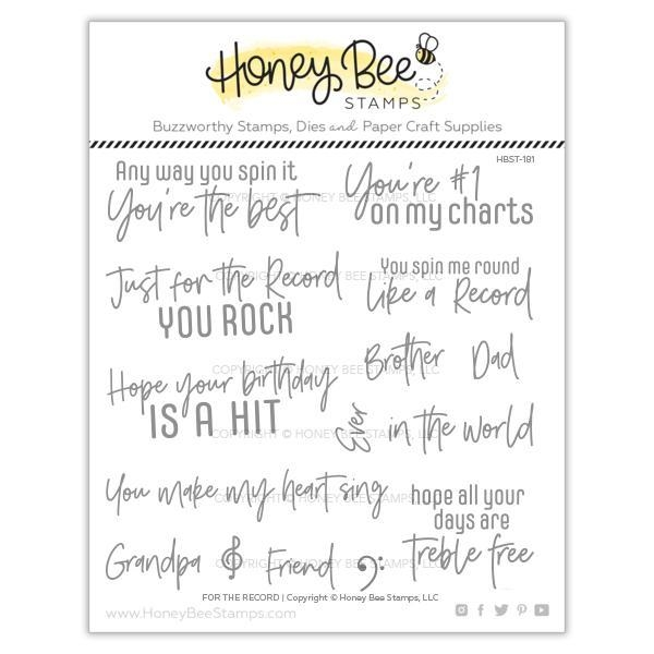 Honey Bee FOR THE RECORD Clear Stamp Set hbst-181 zoom image