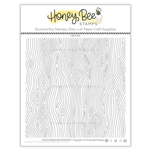Honey Bee WOODGRAIN BACKGROUND Clear Stamp Set hbst-182* Preview Image