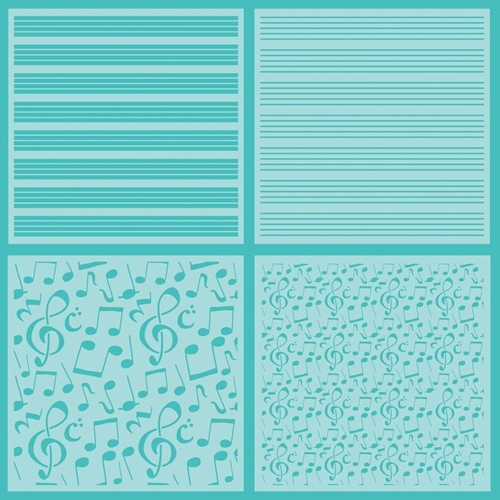 Honey Bee SHEET MUSIC Stencils Set of 4 hbsl-022 Preview Image