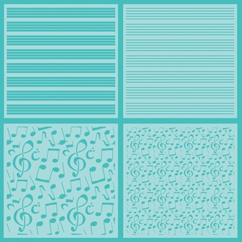 Honey Bee SHEET MUSIC Stencils Set of 4 hbsl-022