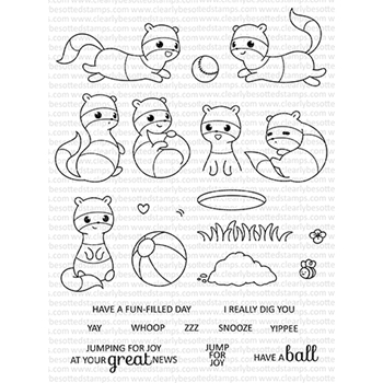 Clearly Besotted FEISTY FERRET Clear Stamps CBSFE204