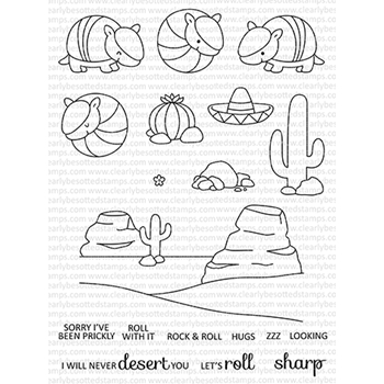 Clearly Besotted ROCK N ROLL Clear Stamps CBSRO573