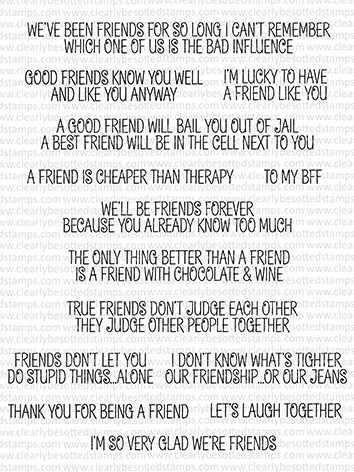 Clearly Besotted LAUGH OUT LOUD FRIENDS Clear Stamps CBSLA151 zoom image