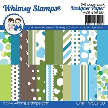 Whimsy Stamps OTTER 6 x 6 Paper Pad WSDP06