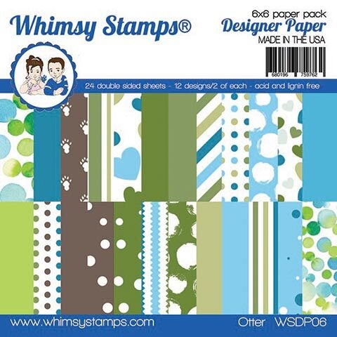 Whimsy Stamps OTTER 6 x 6 Paper Pad WSDP06 zoom image
