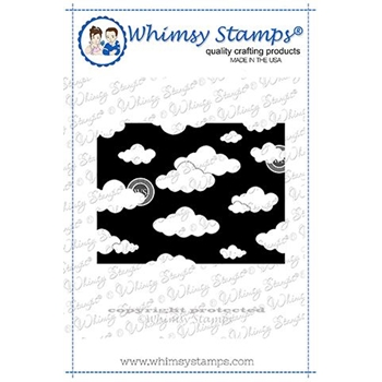 Whimsy Stamps MINI CLOUDS BACKGROUND Rubber Cling Stamp DDB0025