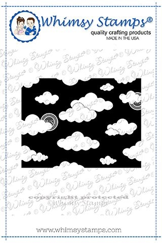 Whimsy Stamps MINI CLOUDS BACKGROUND Rubber Cling Stamp DDB0025 zoom image