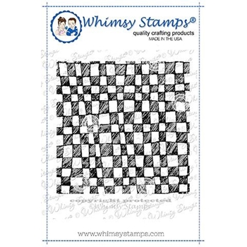 Whimsy Stamps MINI CHECKERBOARD BACKGROUND Rubber Cling Stamp DDB0024