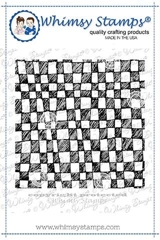 Whimsy Stamps MINI CHECKERBOARD BACKGROUND Rubber Cling Stamp DDB0024 zoom image