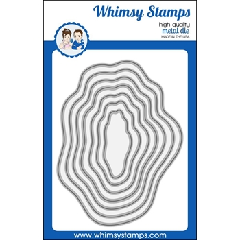 Whimsy Stamps WAVY NESTED FRAMES Dies WSD382