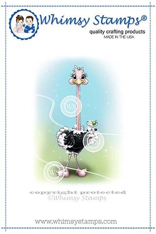 Whimsy Stamps Stretchy Ostrich Cling Stamp