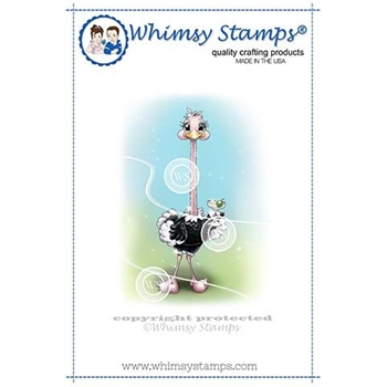 Whimsy Stamps STRETCHY OSTRICH Cling Stamp C1339