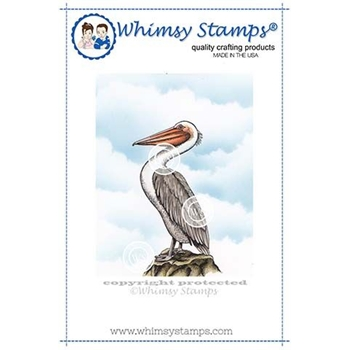 Whimsy Stamps PELICAN Cling Stamp DA1115