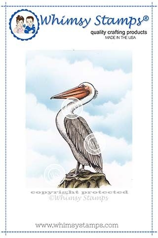 Whimsy Stamps PELICAN Cling Stamp DA1115 zoom image