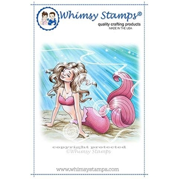 Whimsy Stamps MERMAID ALEXIS Cling Stamp C1338