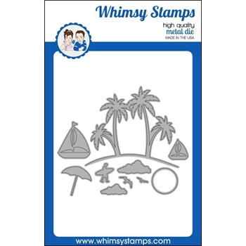 Whimsy Stamps BUILD AN ISLAND Dies WSD381