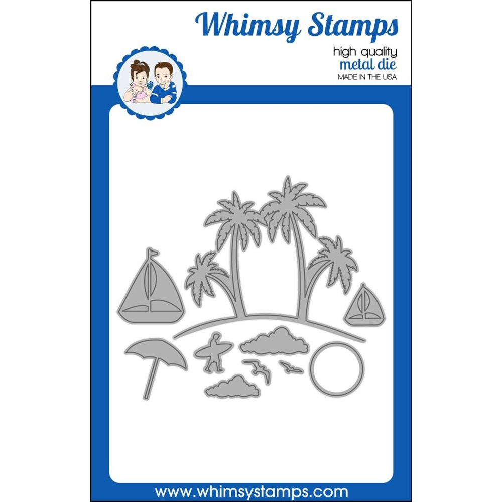 Whimsy Stamps BUILD AN ISLAND Dies WSD381 zoom image