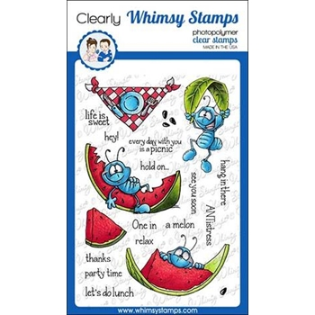 Whimsy Stamps ANTS AT PICNIC Clear Stamps DP1014