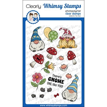 Whimsy Stamps GNOMIES Clear Stamps KHB132
