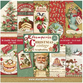 Stamperia CHRISTMAS VINTAGE 12x12 Paper sbbl45
