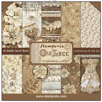 Stamperia OLD LACE 12x12 Paper sbbl32*