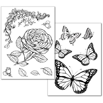 Stamperia ROSES AND BUTTERFLY Transfer Paper dftr038