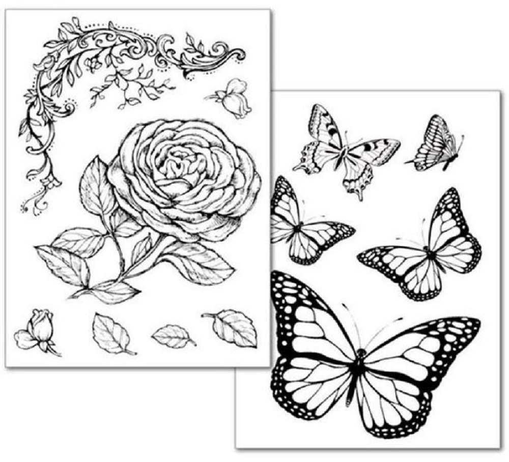 Stamperia ROSES AND BUTTERFLY Transfer Paper dftr038 zoom image