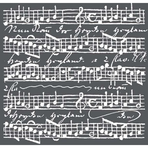 Stamperia MUSIC SCORES Stencil kstdq17 Preview Image