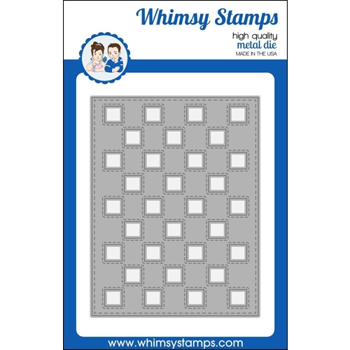 Whimsy Stamps CHECKER BACKGROUND Die WSD383 Preview Image